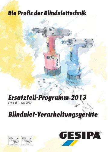 Ersatzteil-Programm gültig ab 01.06.2013 - Gesipa
