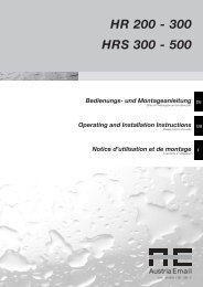 HR 200 - 300 HRS 300 - 500