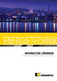 Kennametal Energietechnik Catalog — B-11-02786DE (12.8MB)