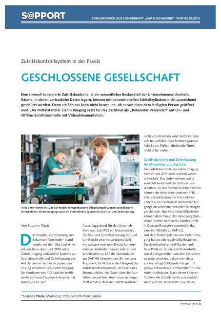 Geschlossene Gesellschaft - PCS Systemtechnik GmbH