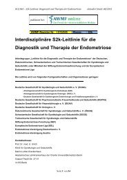 Endometriose - Diagnostik und Therapie - AWMF