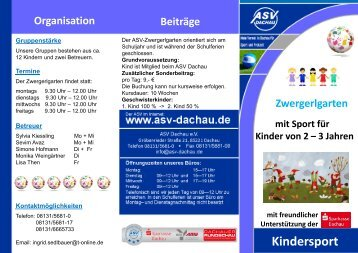 Kindersport - ASV Dachau