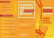 ALKOHOL? WENIGER IST BESSER! - Berufsbildungswerk Greifswald