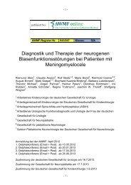 Diagnostik und Therapie - AWMF