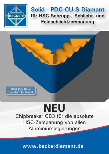 Solid - PDC-CU-S Diamant - Becker Diamantwerkzeuge GmbH