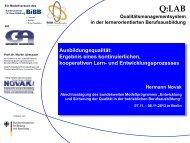 Ergebnis eines kontinuierlichen, kooperativen Lern - BiBB