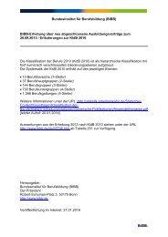 Zusammensetzung der Berufshauptgruppen - BiBB