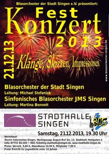 Blasorchester der Stadt Singen Sinfonisches Blasorchester JMS ...