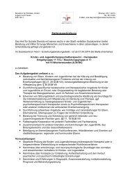 Stellenausschreibung Das Amt für Soziale Dienste mit seinen sechs ...