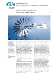 1.3 Erneuerbare Energien Gesetz - Bayerischer Jugendring