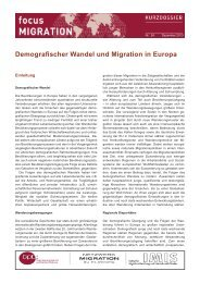 Kurzdossier demografischer Wandel_2014.indd - Bundeszentrale ...