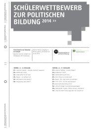 schülerwettbewerb zur politischen - Bundeszentrale für politische ...
