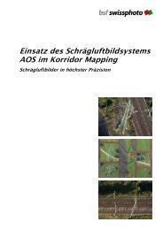 Flyer Korridor-Mapping - BSF Swissphoto