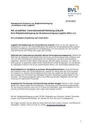 Direkt zur Management Summary der Umfrage (PDF ... - Die BVL