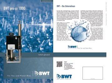 Prospekt BWT pro-ro 1800 - BWT Group