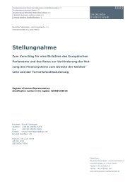 Stellungnahme - Bundesverband deutscher Banken