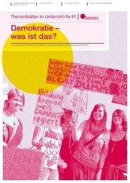 Themenblätter im Unterricht Nr. 81 - Bundeszentrale für politische ...