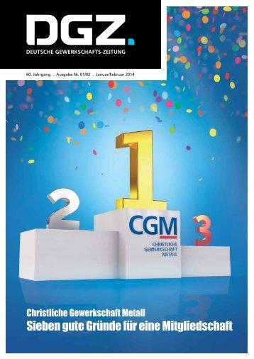 Sieben gute Gründe für eine Mitgliedschaft - CGM