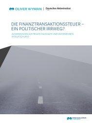Die Finanztransaktionssteuer – ein politischer irrweg? - Deutsches ...