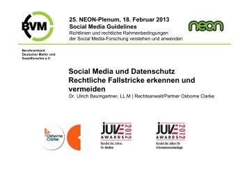 Social Media und Datenschutz Rechtliche Fallstricke erkennen und ...