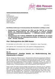 Stellungnahme des dbb Hessen zum Zweiten Gesetz zur ...
