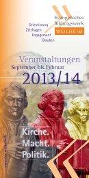Veranstaltungsprogramm - Evang.-Luth. Dekanat Weilheim