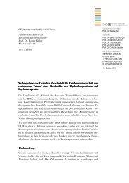 Stellungnahme der DGfE zum vorliegenden Entwurf eines ...