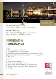 Programm final - Deutsche Gesellschaft für Neurochirurgie - DGNC