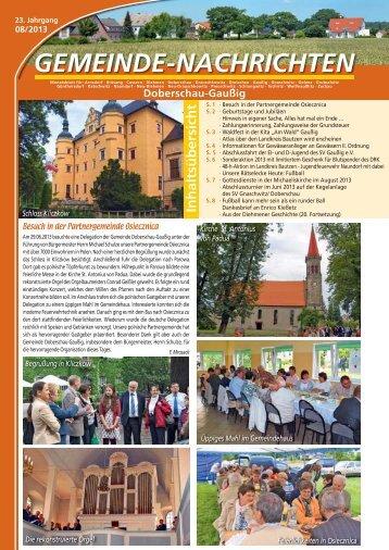 August 2013 - Gemeinde Doberschau-Gaussig