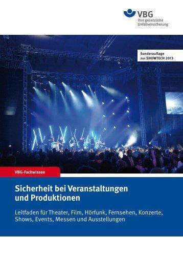 Sicherheit bei Veranstaltungen und Produktionen - DTHG