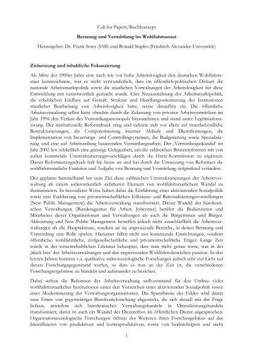 Call for Papers/Buchkonzept Beratung und Vermittlung im ...