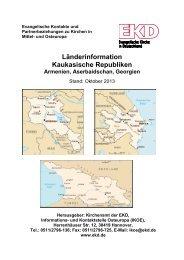Armenien, Aserbaidschan, Georgien - Evangelische Kirche in ...