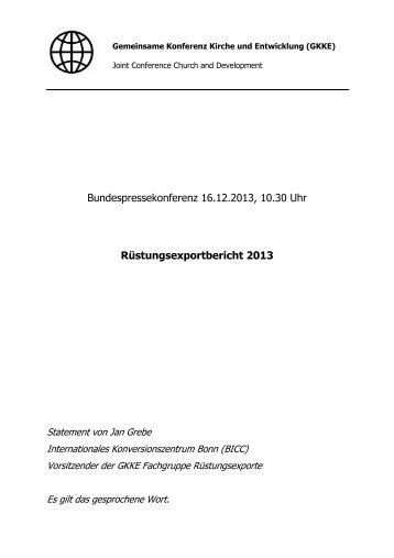 Statement von Jan Grebe - Evangelische Kirche in Deutschland