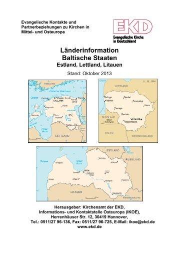Länderinformation Litauen, Lettland und Estland - Evangelische ...
