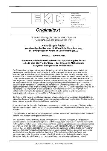 Statement herunterladen (pdf) - Evangelische Kirche in Deutschland