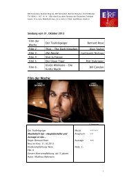 ERF Fernsehen, Berliner Ring 62, 35576 Wetzlar, Tel