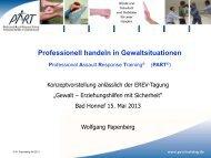 Professionell handeln in Gewaltsituationen: Professional ... - Erev