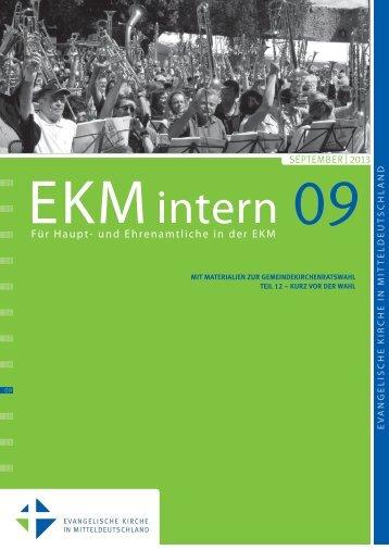 EKMintern_09_2013 - Evangelische Kirche in Mitteldeutschland