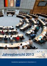 Jahresabschlussbericht 2013 - Europäisches Jugendparlament in ...