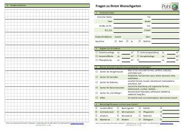 Checkliste - Ihr Weg zum Wunschgarten - POHL Gartenbau