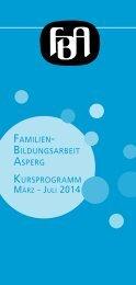 Programm Februar - Juli 2014 - Familienbildungsarbeit Asperg