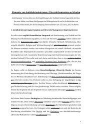 Elemente von Antidiskriminierungs-/Diversitykonzepten an ... - GEW