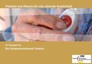 Produkte und Dienste für eine alternde Gesellschaft - GGT Deutsche ...