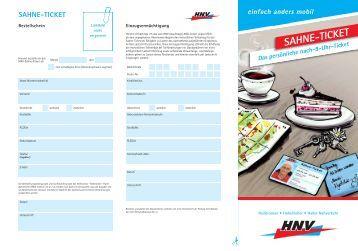 Bestellschein - HNV - Heilbronner · Hohenloher · Haller Nahverkehr