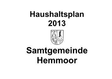 Haushaltsplan - Samtgemeinde Hemmoor