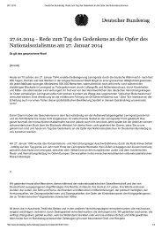 27.01.2014 - Rede zum Tag des Gedenkens an die Opfer des ...