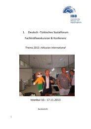 1. Deutsch -Türkisches Sozialforum Fachkräfteexkursion & Konferenz ...