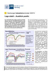 Industriebarometer Q2/2013 - Handelskammer Hamburg