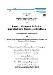 businessplan wohnpark stufenlos - Immobilien Treuhand GmbH ...