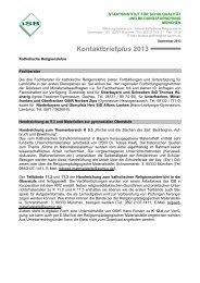 Kontaktbriefplus 2013 - ISB - Bayern